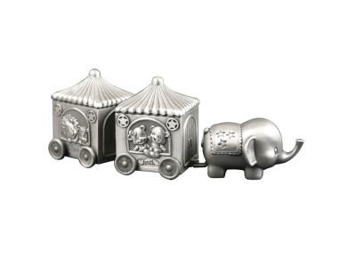 Fortinnet æske Første Tand/hårlok Elefant M.2 Vogn