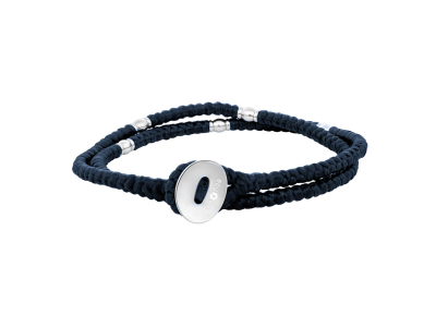 SON Bracelet Blue Cord With Steel 37cm