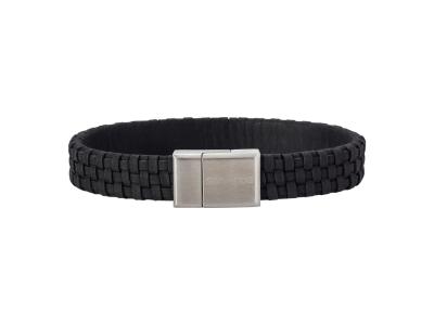 SON Bracelet Black Calf Leather 19cm