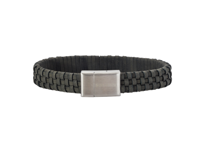 SON Bracelet Grey Calf Leather 19cm