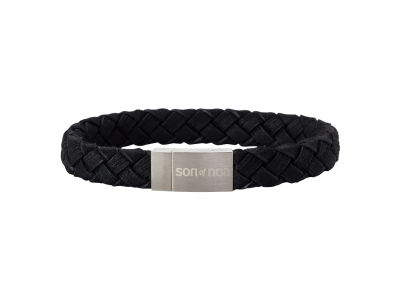 SON Bracelet Black Calf Leather 19cm