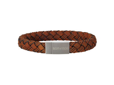 SON Bracelet Brown Calf Leather 19cm
