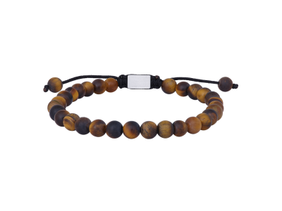 SON Bracelet Matt Yellow Tiger Eye 19cm