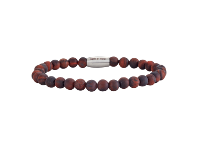 SON Bracelet Matt Red Tiger Eye 19cm