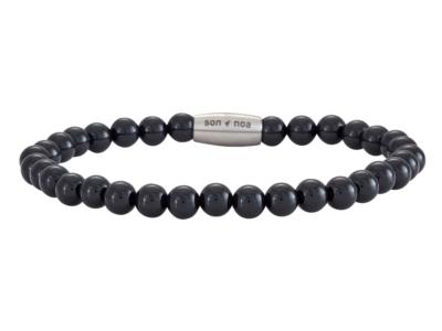 SON Bracelet Shiny Black Onyx 19cm