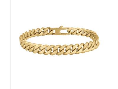 SON Bracelet STEEL Brushed 21cm IPGold