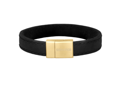 SON Bracelet Black Calf Leather 21cm