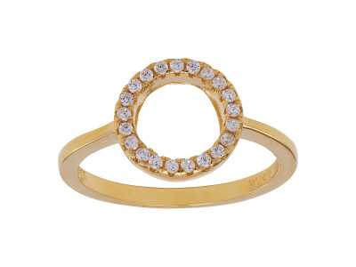 Forgyldt Ring ANNANOR 10mm