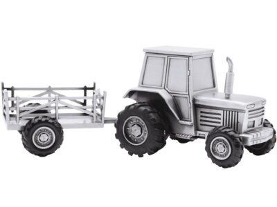Fortinnet Sparebøsse Traktor M. Vogn