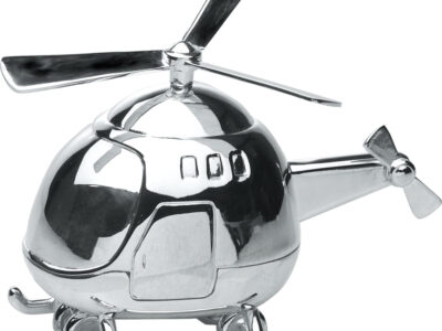 Forsølvet Sparebøsse Helikopter