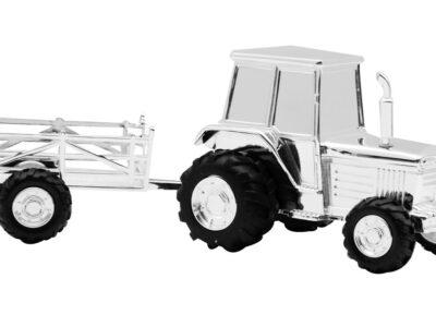 Forkromet Sparebøsse Traktor M. Vogn