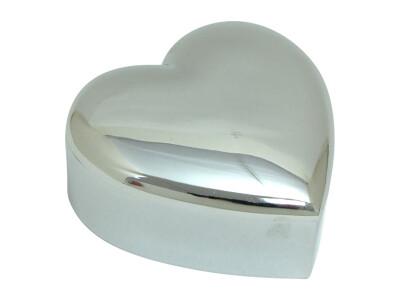 Forkromet Smykkeskrin Hjerte