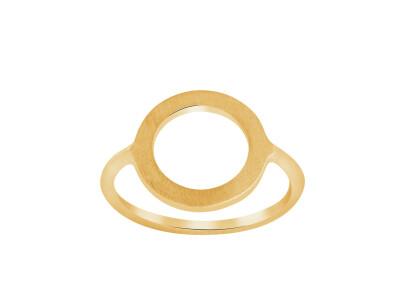 Forgyldt Sølvring, Cirkel 14mm