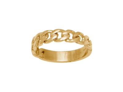 Forgyldt Sølv Ring PANZER52 4,6mm