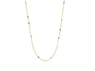 Forg Sølvkæde SWEETS52 Gr. Ro. Bl. 60+10cm