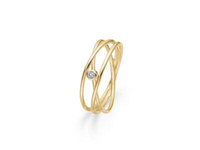 DIAMOND NEST RING I 14 KT. GULD M. BRILLANT