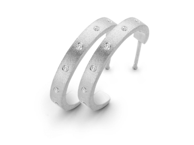Raw øreringe Sølv Small – Sterlingsølv