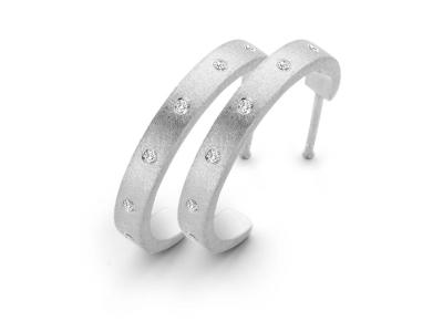 Raw øreringe Sølv Large – Sterlingsølv