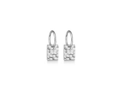 HAMMERED Sølv øreringe