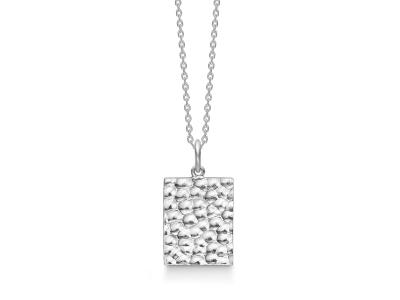 HAMMERED Sølv Halskæde