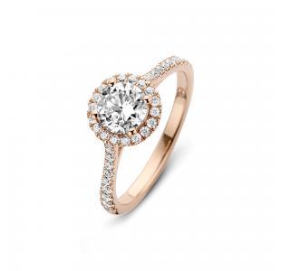 Romance Ring – Sterlingsølv Rosa Forgyldt