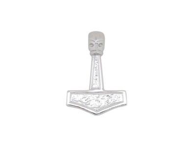 SIERSBØL Sølv Rhod. Vedhæng Thors Hammer 24mm